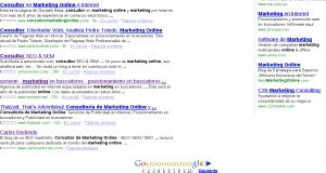 SERP de consultoria de marketing online